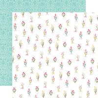 Carta Bella Paper - Flora No. 3 Collection - 12 x 12 Double Sided Paper - Bright Stems