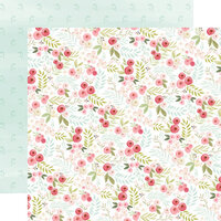 Carta Bella Paper - Flora No. 3 Collection - 12 x 12 Double Sided Paper - Subtle Small Floral