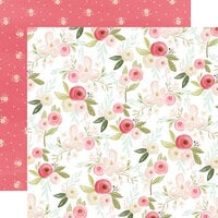 Carta Bella Paper - Flora No. 3 Collection - 12 x 12 Double Sided Paper - Subtle Large Floral