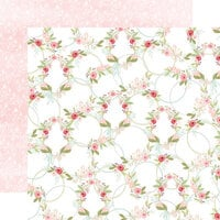 Carta Bella Paper - Flora No. 3 Collection - 12 x 12 Double Sided Paper - Subtle Wreaths