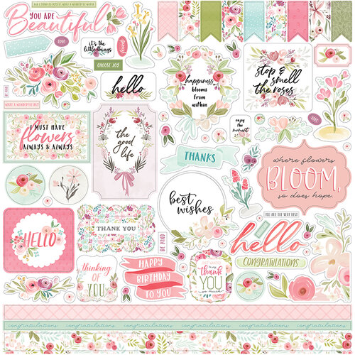Carta Bella Paper - Flora No. 3 Collection - 12 x 12 Cardstock Stickers - Elements
