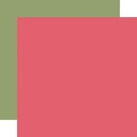 Carta Bella Paper - Flora No. 3 Collection - 12 x 12 Double Sided Paper - Dark Pink
