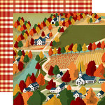 Carta Bella Paper - Fall Break Collection - 12 x 12 Double Sided Paper - Harvest Town