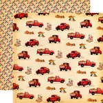 Carta Bella Paper - Fall Break Collection - 12 x 12 Double Sided Paper - Pumpkin Trucks