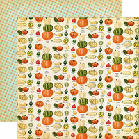 Carta Bella Paper - Fall Break Collection - 12 x 12 Double Sided Paper - Gourd Variety