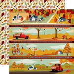 Carta Bella Paper - Fall Break Collection - 12 x 12 Double Sided Paper - Border Strips