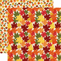 Carta Bella Paper - Fall Break Collection - 12 x 12 Double Sided Paper - Crunchy Leaves