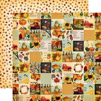 Carta Bella Paper - Fall Break Collection - 12 x 12 Double Sided Paper - Fall Squares