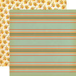 Carta Bella Paper - Fall Break Collection - 12 x 12 Double Sided Paper - Scarecrow Stripe