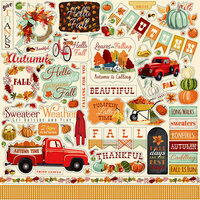Carta Bella Paper - Fall Break Collection - 12 x 12 Cardstock Stickers