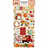 Carta Bella Paper - Fall Break Collection - Chipboard Stickers - Accents