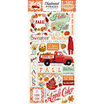 Carta Bella Paper - Fall Break Collection - Chipboard Stickers - Phrases