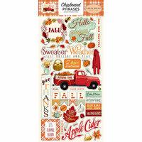 Carta Bella Paper - Fall Break Collection - Chipboard Stickers - Phrases