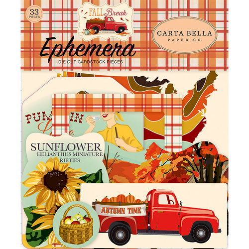 Carta Bella Paper - Fall Break Collection - Ephemera