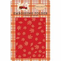 Carta Bella Paper - Fall Break Collection - Embossing Folder - Whisking Leaves