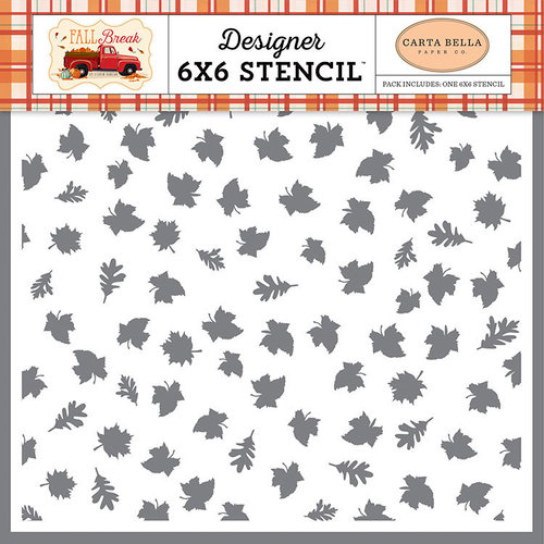 Carta Bella Paper - Fall Break Collection - 6 x 6 Stencil - Autumn Leaves