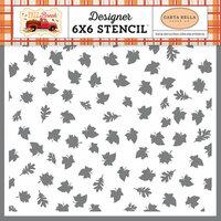 Carta Bella Paper - Fall Break Collection - 6 x 6 Stencil - Autumn Leaves