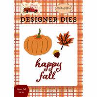 Carta Bella Paper - Fall Break Collection - Designer Dies - Happy Fall