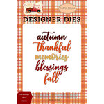 Carta Bella Paper - Fall Break Collection - Designer Dies - Fall Blessings Word
