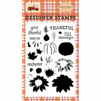 Carta Bella Paper - Fall Break Collection - Clear Photopolymer Stamps - Thankful Layering