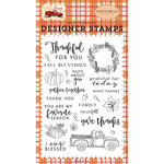 Carta Bella Paper - Fall Break Collection - Clear Photopolymer Stamps - Gather Together