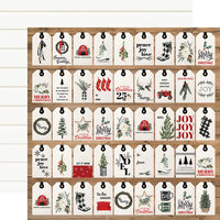 Carta Bella Paper - Farmhouse Christmas Collection - 12 x 12 Double Sided Paper - Gift Tags