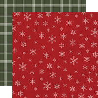 Carta Bella Paper - Farmhouse Christmas Collection - 12 x 12 Double Sided Paper - Snowflakes