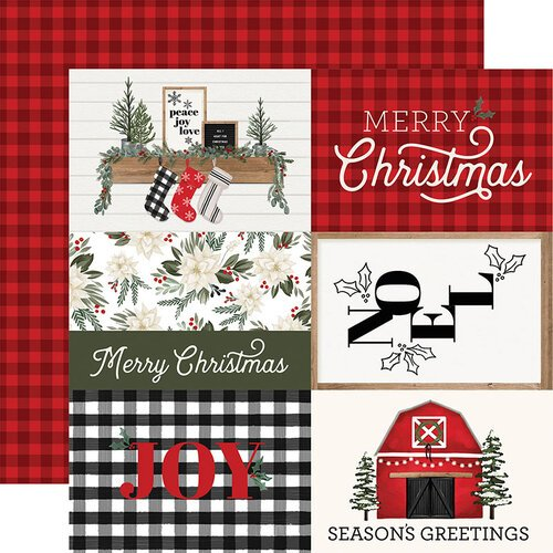 Carta Bella Paper - Farmhouse Christmas Collection - 12 x 12 Double Sided Paper - 4 x 6 Journaling Cards