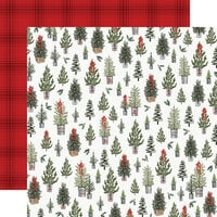 Carta Bella Paper - Farmhouse Christmas Collection - 12 x 12 Double Sided Paper - Tree Farm