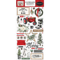 Carta Bella Paper - Farmhouse Christmas Collection - Chipboard Stickers - Accents