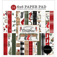 Carta Bella Paper - Farmhouse Christmas Collection - 6 x 6 Paper Pad