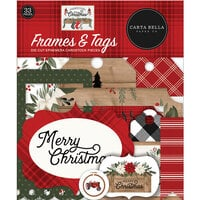 Carta Bella Paper - Farmhouse Christmas Collection - Ephemera - Frames and Tags