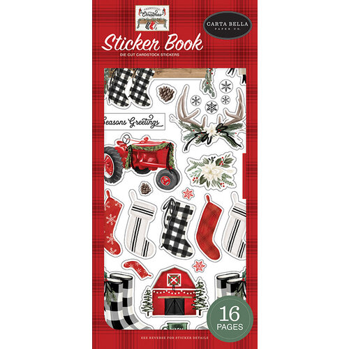 Carta Bella Paper - Farmhouse Christmas Collection - Cardstock Sticker Book