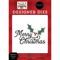 Carta Bella Paper - Farmhouse Christmas Collection - Designer Dies - Holly Merry Christmas