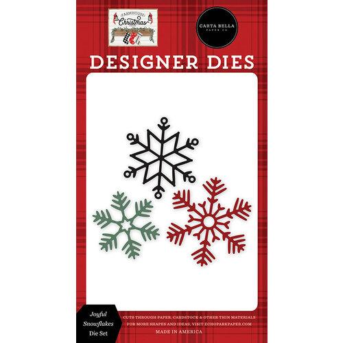 Carta Bella Paper - Farmhouse Christmas Collection - Designer Dies - Joyful Snowflakes