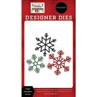 Carta Bella Paper - Farmhouse Christmas Collection - Designer Dies - Joyful Snowflakes