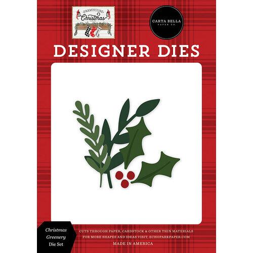 Carta Bella Paper - Farmhouse Christmas Collection - Designer Dies - Christmas Greenery