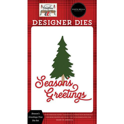 Carta Bella Paper - Farmhouse Christmas Collection - Designer Dies - Season