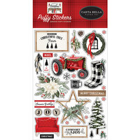 Carta Bella Paper - Farmhouse Christmas Collection - Puffy Stickers