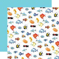 Carta Bella Paper - Fish Are Friends Collection - 12 x 12 Double Sided Paper - Fish March