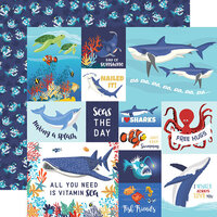 Carta Bella Paper - Fish Are Friends Collection - 12 x 12 Double Sided Paper - Multi Journaling Cards