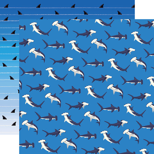 Carta Bella Paper - Fish Are Friends Collection - 12 x 12 Double Sided Paper - Shark Dance