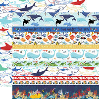 Carta Bella Paper - Fish Are Friends Collection - 12 x 12 Double Sided Paper - Border Strips