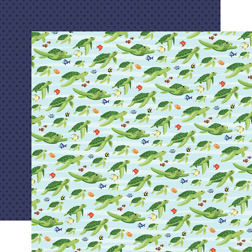 Carta Bella Paper - Fish Are Friends Collection - 12 x 12 Double Sided Paper - Sea Friends