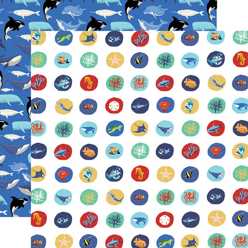 Carta Bella Paper - Fish Are Friends Collection - 12 x 12 Double Sided Paper - Deep Sea Circles