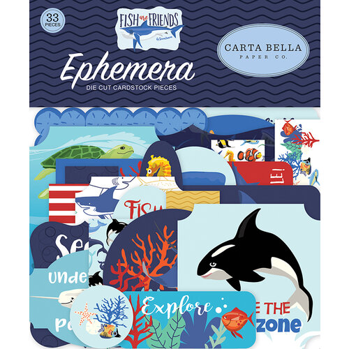 Carta Bella Paper - Fish Are Friends Collection - Ephemera