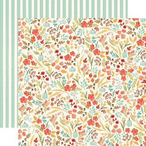 Carta Bella Paper - Fall Market Collection - 12 x 12 Doubled Sided Paper - Fall Floral