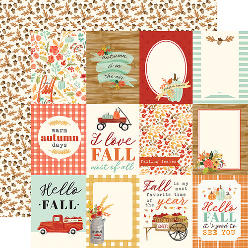 Carta Bella Paper - Fall Market Collection - 12 x 12 Doubled Sided Paper - 3 x 4 Journaling Cards