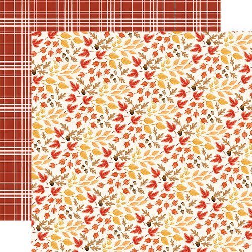 Carta Bella Paper - Fall Market Collection - 12 x 12 Doubled Sided Paper - Rustling Leaves