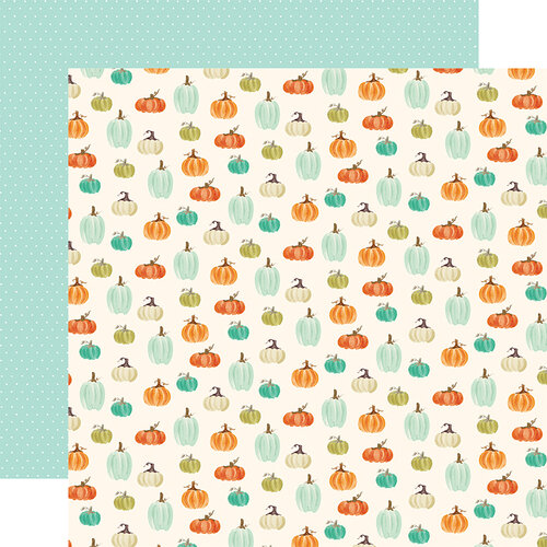Carta Bella Paper - Fall Market Collection - 12 x 12 Doubled Sided Paper - Pumpkin Patch